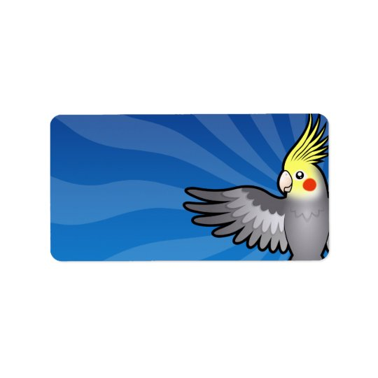Cartoon Cockatiel Address Label
