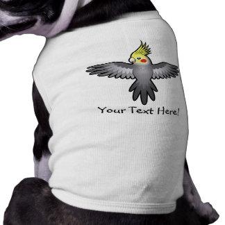 Cartoon Cockatiel Sleeveless Dog Shirt