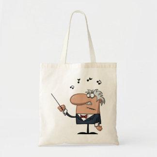 Cartoon Conductor Tote Bag