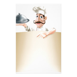 Cartoon Cook Menu Scroll Customized Stationery