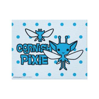 Cartoon Cornish Pixie Character Art Canvas Print