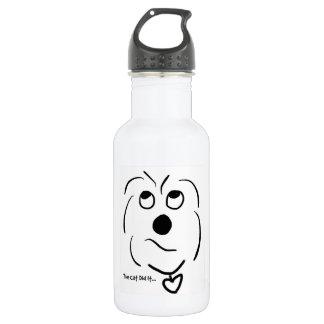 Cartoon Coton de Tulear - The Cat Did It 532 Ml Water Bottle