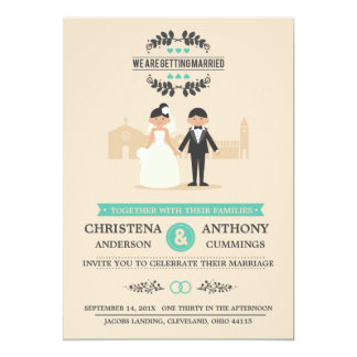Cartoon Couple Wedding Invitation (CA)