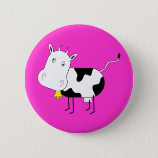 Cartoon Cow Button