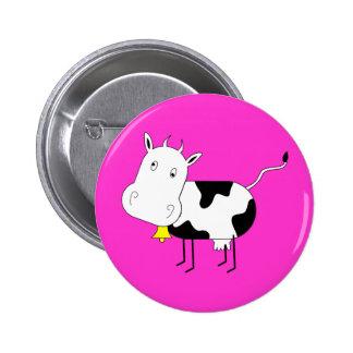 Cartoon Cow Button