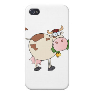 Cartoon Cow Character Cover For iPhone 4