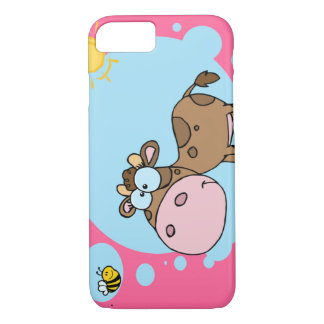 Cartoon Cow iPhone 7 case