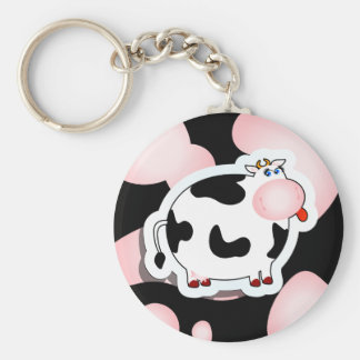 Cartoon cow, keychain