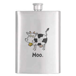Cartoon Cow Moo Hip Flask