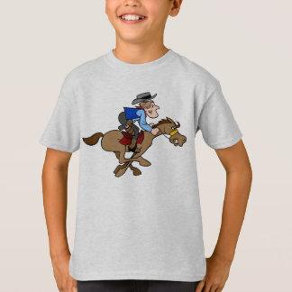 Cartoon Cowboy Gallops Fast Animated Horse T-Shirt