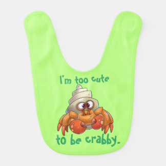 Cartoon crab baby bib