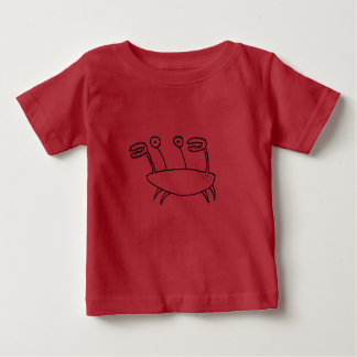 Cartoon Crab Character Baby T-Shirt