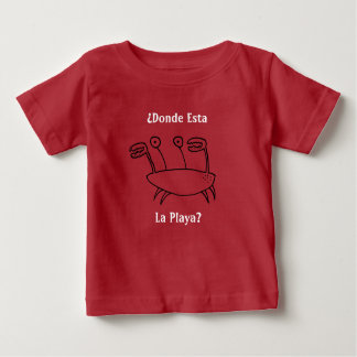 Cartoon Crab Character - ¿Donde Esta La Playa? Baby T-Shirt