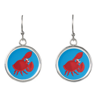 Cartoon crab earrings