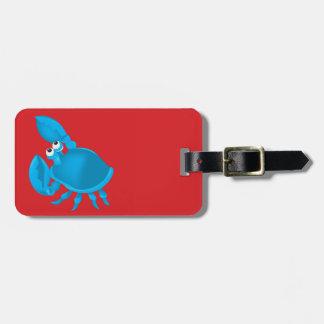 Cartoon crab luggage tag