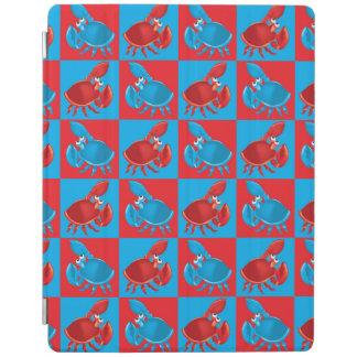 Cartoon crab mosaic iPad cover