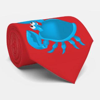 Cartoon crab tie