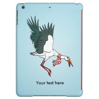 Cartoon Crane Flying Funny Illustration
