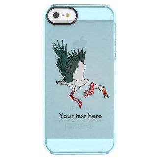 Cartoon Crane Flying Funny Illustration Clear iPhone SE/5/5s Case