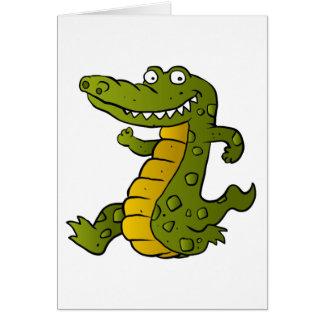 Cartoon crocodile. card