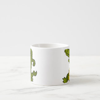 Cartoon crocodile. espresso cup