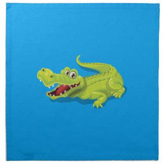 Cartoon Crocodile Napkin