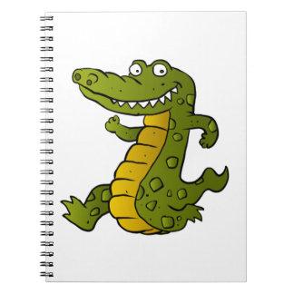 Cartoon crocodile. note book
