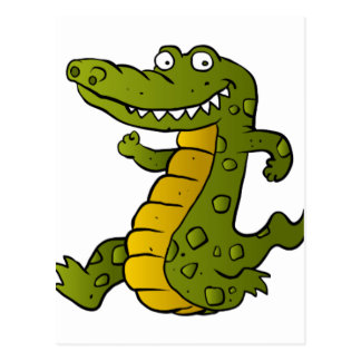 Cartoon crocodile. postcard
