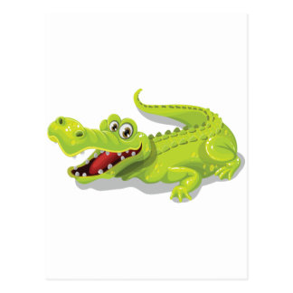 Cartoon Crocodile Postcard