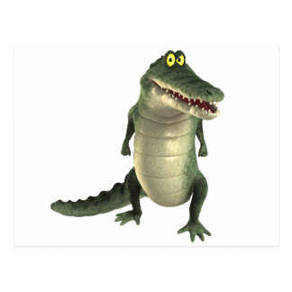 Cartoon Crocodile Postcard