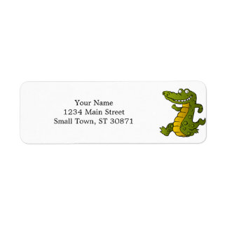 Cartoon crocodile. return address label
