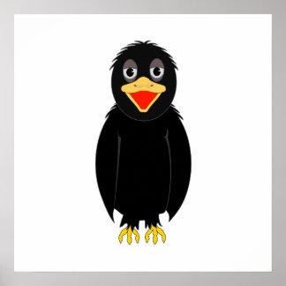 Cartoon Crow Posters