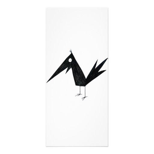 Cartoon Crow Rack Card Template