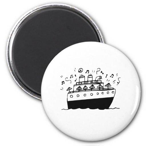 Cartoon Cruise Ship Magnet
