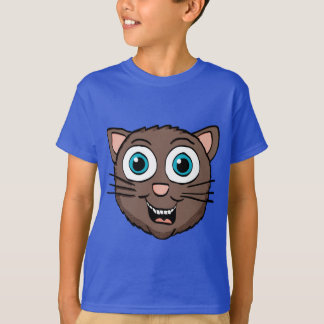 Cartoon Cute Brown Cat face Shirt