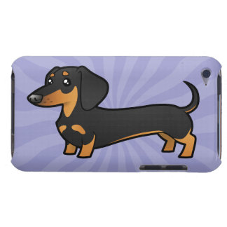 Cartoon Dachshund (smooth coat) iPod Touch Case-Mate Case