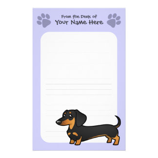 Cartoon Dachshund (smooth coat) Stationery