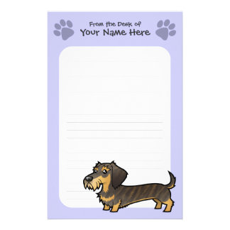 Cartoon Dachshund (wirehair) Stationery