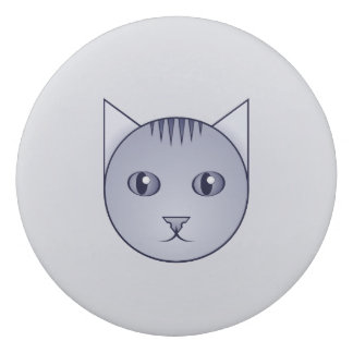 Cartoon Delft Tabby Cat Eraser