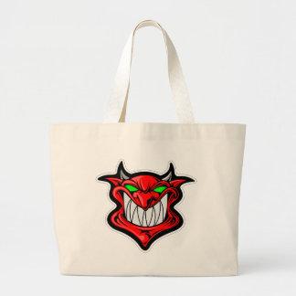 Cartoon Devil Large Tote Bag