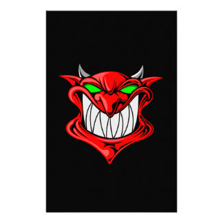 Cartoon Devil Stationery