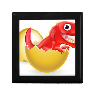 Cartoon Dinosaur Hatching from Egg Gift Box