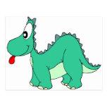 Cartoon Dinosaur Postcard