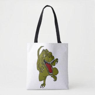 Cartoon Dinosaur TRex Tote Bag