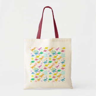 Cartoon Dinosaurs Color Stars Bag