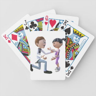 Cartoon Doctor and Patient Poker Deck