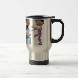 Cartoon Doctor and Patient Travel Mug