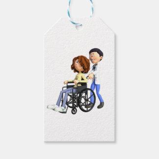 Cartoon Doctor Wheeling Patient In Wheelchair
