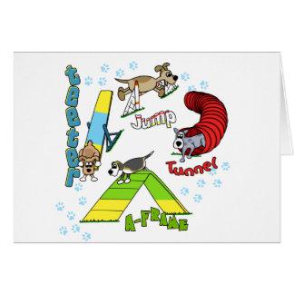 Cartoon Dog Agility Card