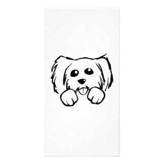 Cartoon Dog Face Customized Photo Card